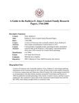 Jones (Kathryn E.) Crockett Family Research Papers, 1764-2000