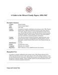 Olivarri Family Papers, 1856-1962