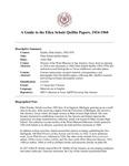 Quillin (Ellen Schulz) Papers, 1924-1968