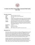 Quillin (Ellen Schulz) Annotated Field Guides, 1922-1968