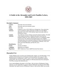 Alexander and Lewis Families Letters, 1852-1865 by DRT Collection at Texas A&M University-San Antonio