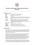 Esparza (Reynaldo J.) Research Papers, 1802-1995