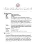 Riddle and Eagar Families Papers, 1840-1945