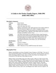 Parker Family Papers, 1840-1991  (bulk 1842-1881)