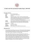 Pirie and Sinclair Families Papers, 1899-1981