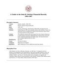 Stricker (John R.) Financial Records,  1903-1907