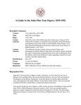Tom (John Files) Papers, 1835-1952