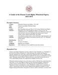 Wheelock (Eleazar Louis Ripley) Papers,  1833-1875