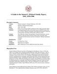Whitsett (Samuel J.) Family Papers,  1841, 1870-1906
