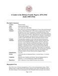 Dittmar Family Papers, 1874-1944  (bulk 1909-1944)