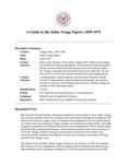 Tengg (Julius) Papers, 1859-1972
