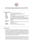 Stumpf (Ella Ketcham Daggett) Papers, 1866, 1914-1992